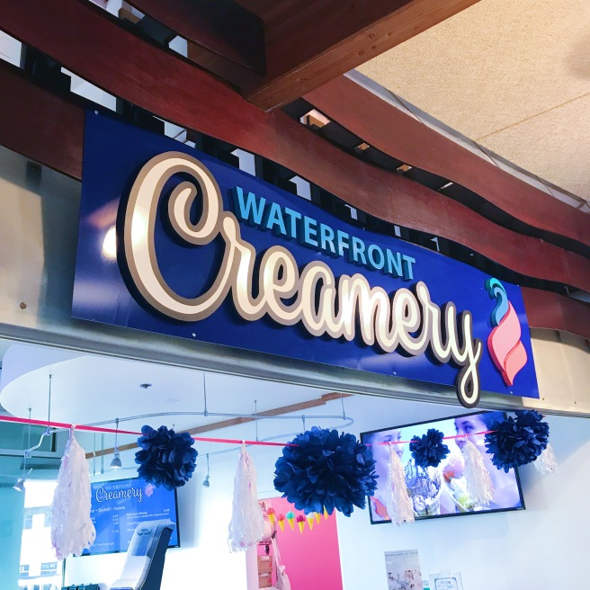 Waterfront creamery sign