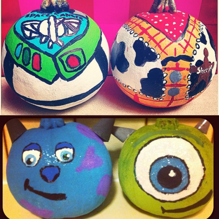 Painted_pumpkins_monsters_inc_toy_story