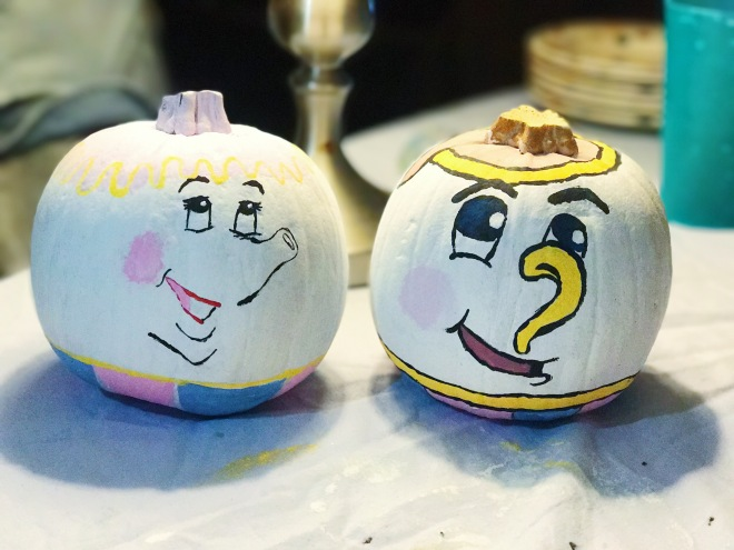 Pumpkin painting beauty and the beast