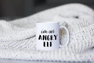 I'm an angry elf mug