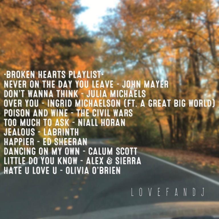 broken heart playlist